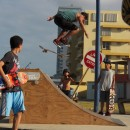 Emanuel ''Manny'' Marrero - Nollie Bigspin Disaster at La Pared Luquillo